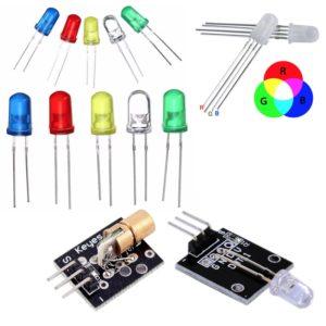 LED gaismas diodes un moduļi
