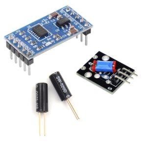 Akselerometri, slīpuma un vibrācijas sensori