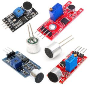 Skaņas sensori un mikrofoni