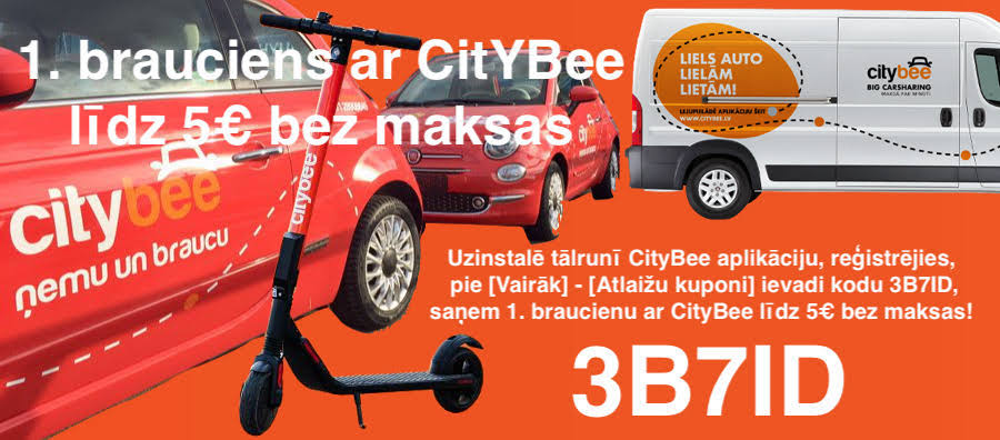 CityBee atlaides kods