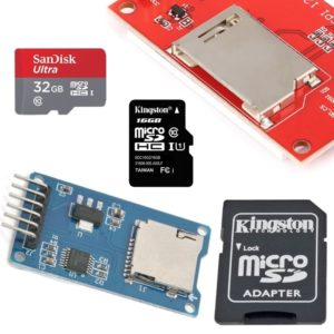 Micro SD kartes, adapteri, moduļi
